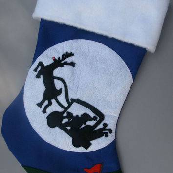 Golf Christmas Stocking - Ho Ho Hole in One Christmas Stocking for the Golfer
