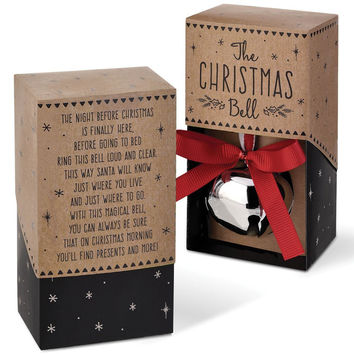 The Christmas Jingle Bell Gift Boxed with Holiday Sentiment
