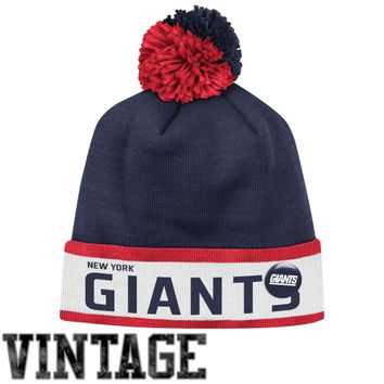 Mitchell & Ness New York Giants Vintage Block Cuffed Knit Hat - Navy Blue