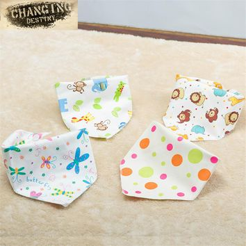 0 To 3 Years Old Baby's Bibs Microfiber Cloth Triangle Cartoon Double Suction Baby Drool Towel Maternal and Child Supplies