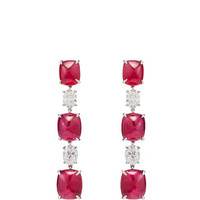 Sugarloaf Ruby Earrings | Moda Operandi