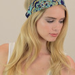 Retro Fabric Headband - Blue