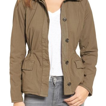James Perse Jersey Lined Surplus Jacket | Nordstrom
