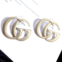 GUCCI Fashion New Letter Leisure Earring Women Jewelry Golden