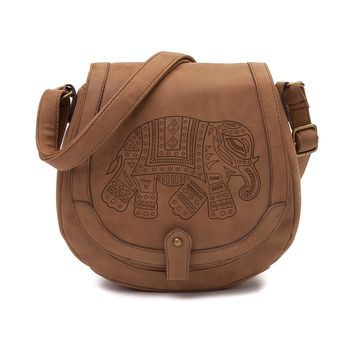 Womens Elephant Saddle Handbag