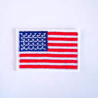 USA Flag Patch/Iron on Patch/Applique/Embroidery