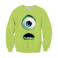 3D Brand Sweatshirt Classic Cartoon Monster University Hoodie Mike Wazowski Printed 3D Sweat Cartoon Funny Hoodie Pullover Anime