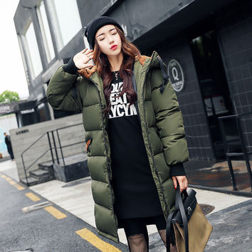 2017 New Fashion Autumn Winter Women Parkas Casual Basic Jacket Wild Camouflage Cotton Jacket  Women's Wadded Long Outwear S-3XL