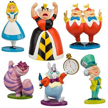 Alice in Wonderland Figure Play Set -- 6-Pc. | Figure Sets | Disney Store
