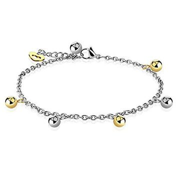 BodyJ4You Anklet Bracelet Dolphin Dangle Stainless Steel Body Fashion Jewelry