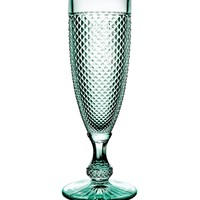 Bicos Mint Green Champagne Flutes - Set of 4