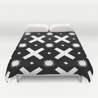 Black and white pattern  Duvet Cover by VanessaGF