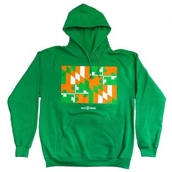 Irish Maryland Flag (Irish Green) / Hoodie