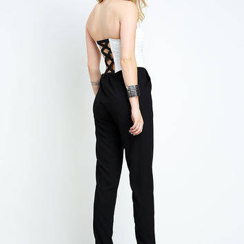 Back Strappy Tubetop Jumpsuit