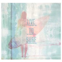 Live to Surf Wall Mural