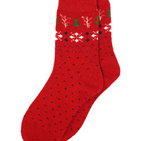 Cozy Winter Ankle Socks in Red – bandbcouture.com