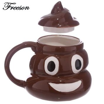 Funny Kuso Shit Mug Creative Ceramic Coffee Cup Kawaii Emoji Tea Cup Porcelain Zakka Novelty for Friend April Fools'Day Gift