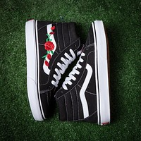 Fashion Online Vans & Amac Customs Rose Embroidered Casual Shoes