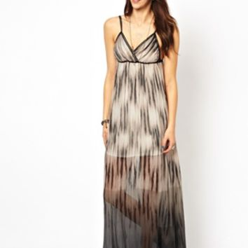 Gypsy 05 Silk Leana Surplice Maxi Dress - Charcoal