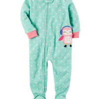 1-Piece Owl Fleece PJs