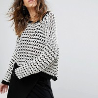 Moon River Drop Shoulder Textured Jumper at asos.com