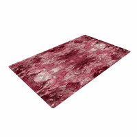 "Ebi Emporium ""Tie Dye Helix, Red "" Burgundy Abstract Woven Area Rug"