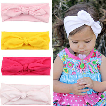Fashion Baby Girl Headbands Cute Rabbit Ears Bow Hair Bands Baby Cloth Headband Bowknot Headwear BB-222