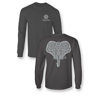 Sassy Frass Elephant Ellie Mandala Long Sleeve Bright Girlie T Shirt