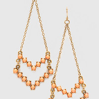 Gloria Chandelier Earrings - Coral - One Size / Coral