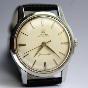 Vintage Omega Seamaster Automatic Cal 591 Mens Antique Swiss Wrist Watch