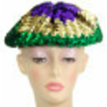 Mardi Gras Sequined Beret/Tam/Hat