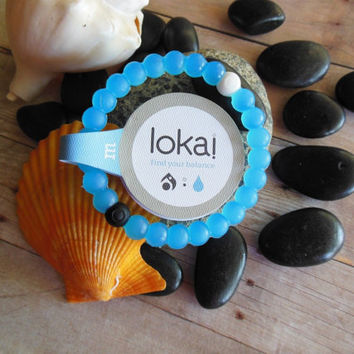 2015 fashion blue white lokai bracelet S-M-L