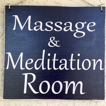8x8 Massage And Meditation Room Sign