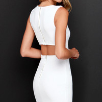 Aim to Chic Ivory Bodycon Dress