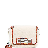 Fendi - Sheep Fur & Leather 3Baguette - Saks Fifth Avenue Mobile