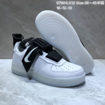DCCK2 N701 Nike Air Force 1 Utility QS AF1 Low Sports Casual Skate Shoes White