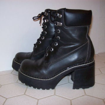 Chunky Platform Boots by Skechers Womens Size 7