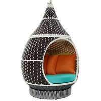 Palace Outdoor Patio Wicker Rattan Hanging Pod