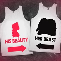His Beauty Her Beast Matching Tanks! Cute!