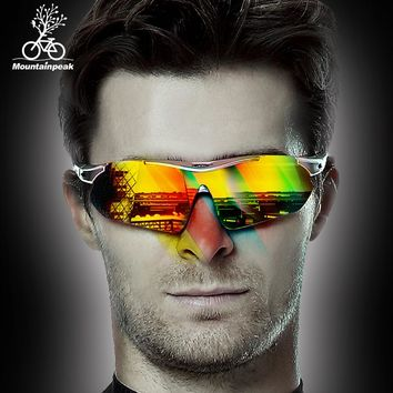 Mountainpeak Men Cycling Glasses Outdoor Sport Boys Cycling Eyewear Mountain Bike Bicycle Motorcycle Goggles Glasses Sunglasses
