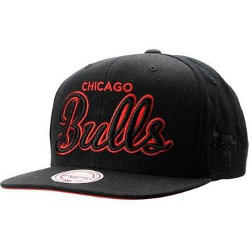 NBA Mitchell and Ness Chicago Bulls Blacked Out Snapback Hat
