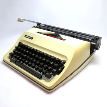 A3 Typewriter- Adler 12. In Working Condition. Carry Case Included. Made in Japan.