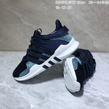 HCXX A550 Adidas EQT Cushion ADV Mesh Knit Fashion Running Shoes Black Green