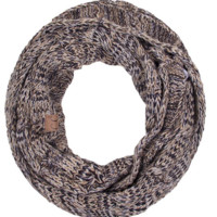 CC Mixed Infinity Scarf - Beige/Black