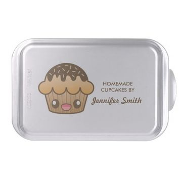 Cute Brown Cupcake With Text Homemade Cupcakes Cake Pan