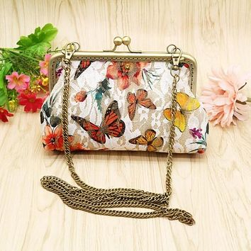 Butterfly Clutch with Removable Strap