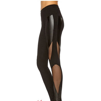 Breathable Diag Mesh Leggings