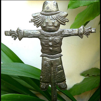 Metal Plant Stake - Scarecrow - Outdoor Metal Art - Garden Decor - Metal Plant Marker, Plant Stick, Garden Decor, Garden Markers - PS-1809