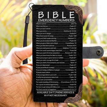 Bible Emergency Numbers - Christian  Wallet Phone Case