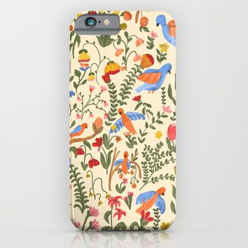 Tropical Garden Pattern iPhone & iPod Case by chotnelle